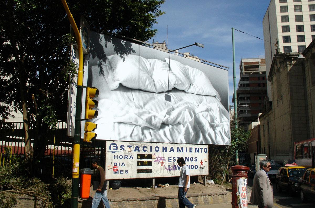 Intervención urbana en Buenos Aires.