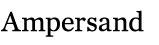 Ampersand Editorial